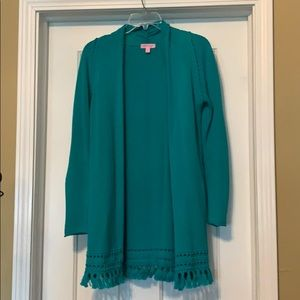 Lilly Pulitzer teal cardigan